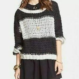 Free People Monaco Slouchy Chunky Knit Sweater XS